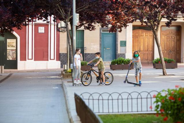 Children playing during lockdown