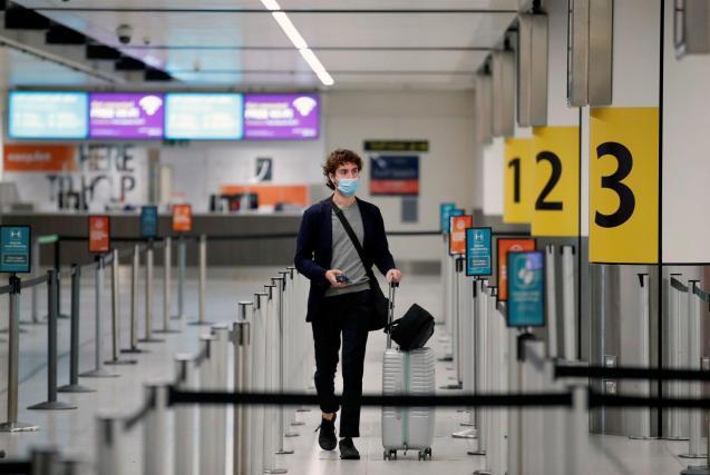 Passenger at Gatwick airport.