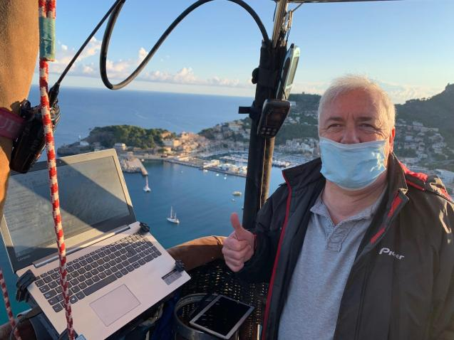 Hot air balloon ride over Majorca