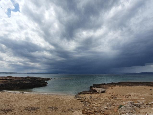 Heavy rain towards Pollensa