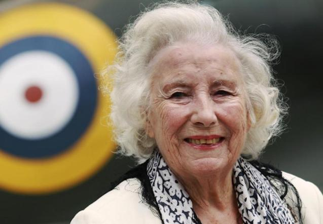 Dame Vera Lynn, the Forces' Sweetheart.