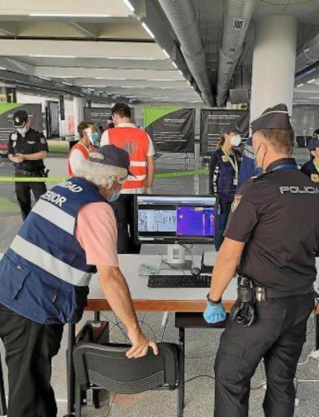 Airport checks, Majorca.