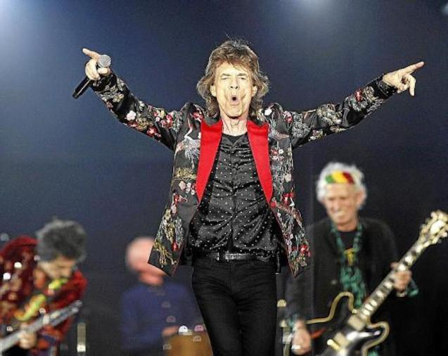Mick Jagger on stage with the Rolling Stones.
