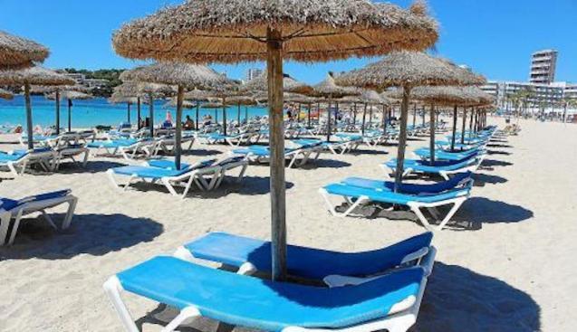 Magalluf beach, Majorca.