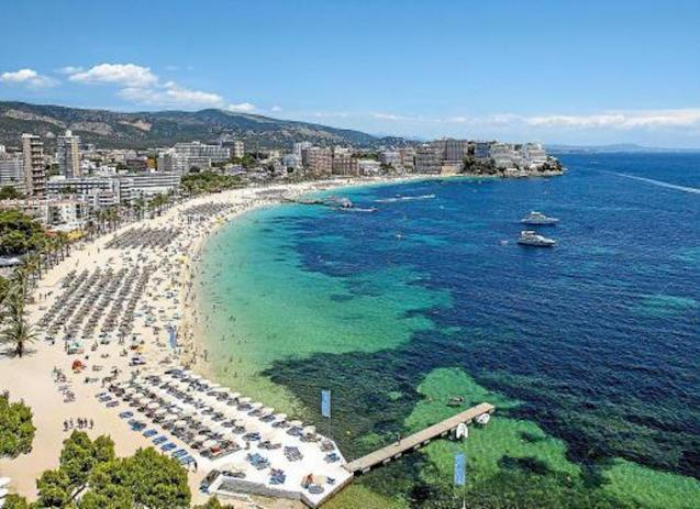 Magalluf, Palmanova & Santa Ponsa are traditionally British destinations.