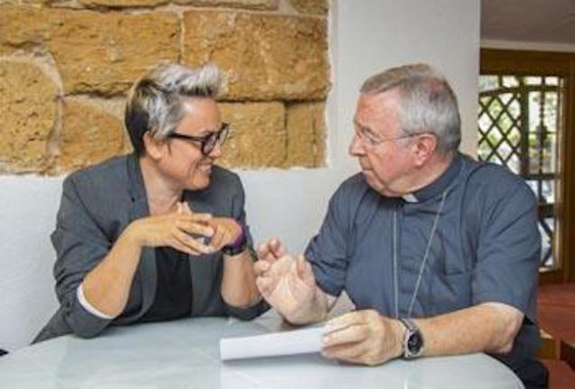 Councillor Sonia Vivas & Bishop of Mallorca.