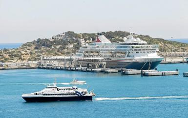 Cruise ships are currently prohibited in Spain.