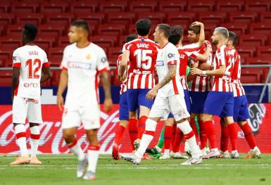 Celebrations for Atlético, while Mallorca were goalless.