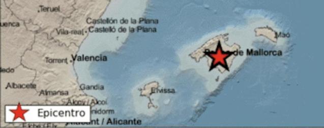 Earthquake in Montuïri, Majorca.