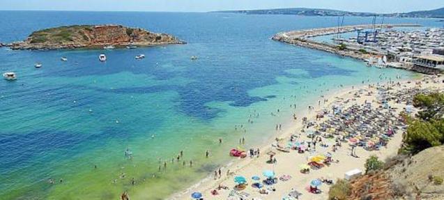 Playa de s'Oratori, Portals Nous, Majorca.