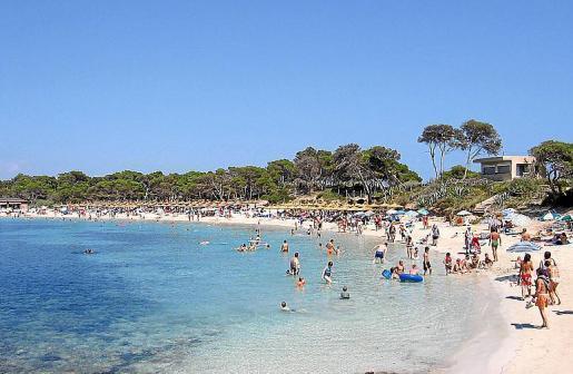 Playa del Marquès, Colònia de Sant Jordi, Majorca.