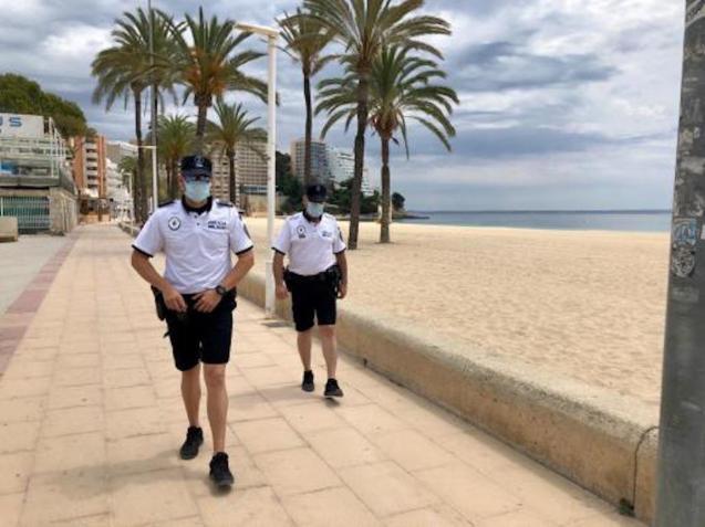 Local Police on patrol in Calvia.