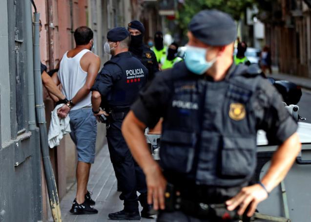 Police arresting possible Algerian jihadist