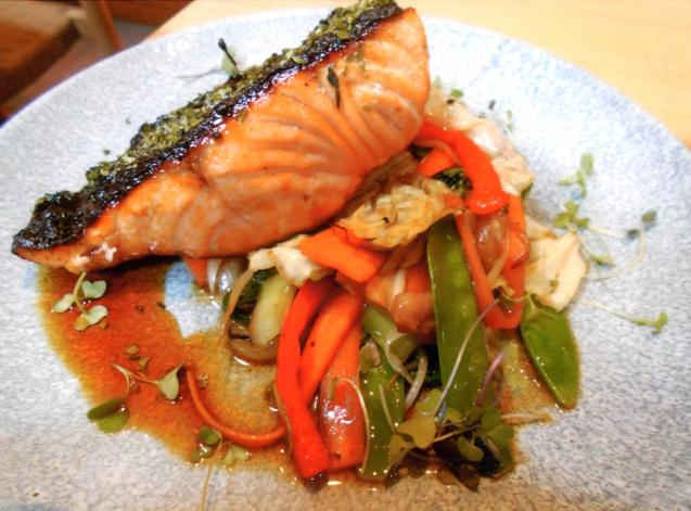 The salmon was the best ever and worth a 10