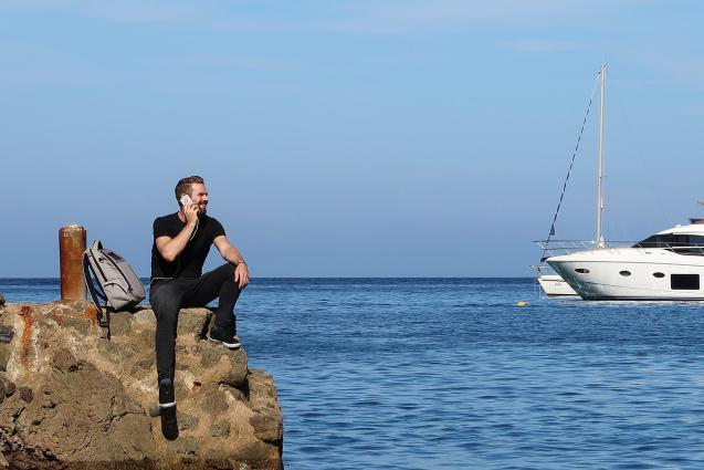 Adrian by his beloved ocean