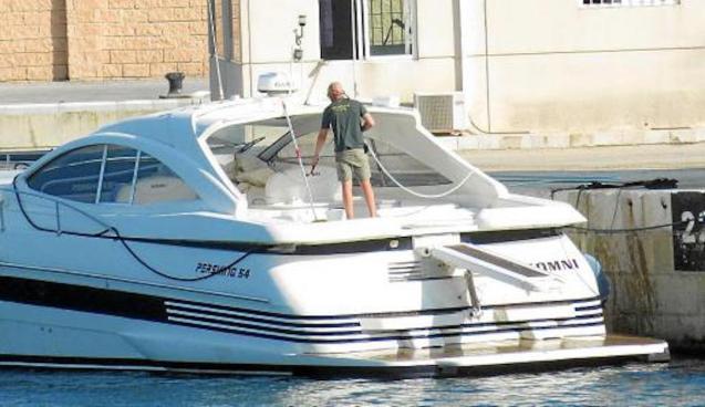 'Somni' speedboat in Portopí, Majorca.