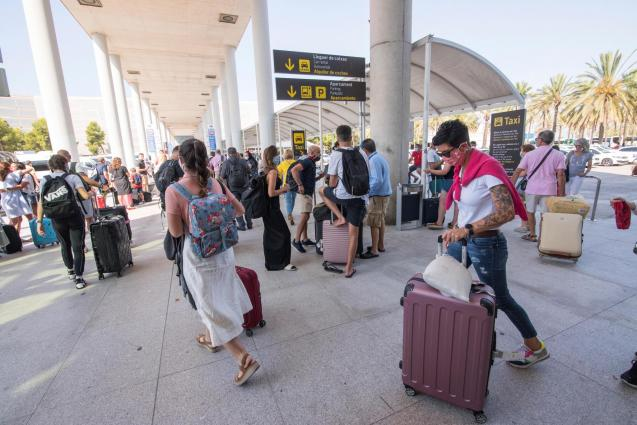 Passengers at Palma airport