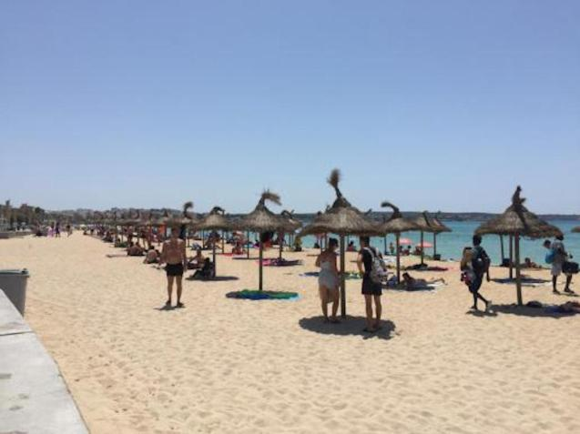 Playa de Palma beaches finally have umbrellas and sunbeds.
