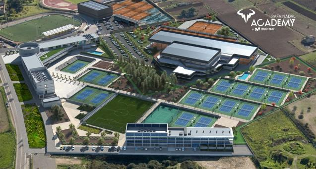 Aerial view of the Rafa Nadal Academy 2021
