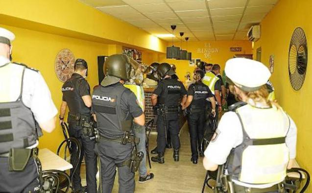 German Police take part in inspections in Palma.