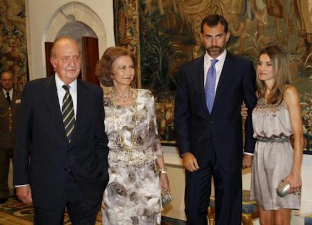 King Juan Carlos, Queen Sofia, King Felipe VI & Queen Letizia.