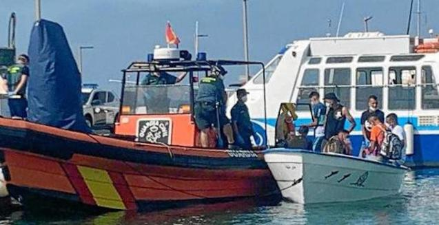 Migrants arriving in the Balearic Islands.