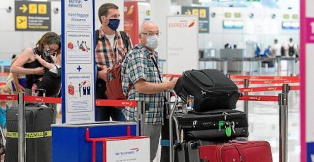 British Airways passengers at the Airport.