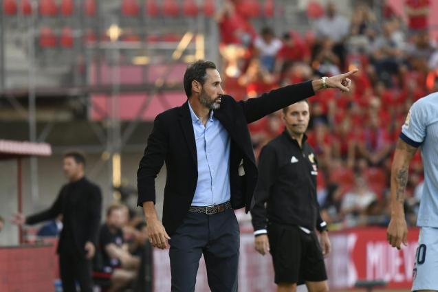 Vicente Moreno during a Real Mallorca match