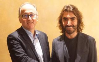 CEO of Iberia Luis Gallego, and CEO of Globalia Javier Hidalgo