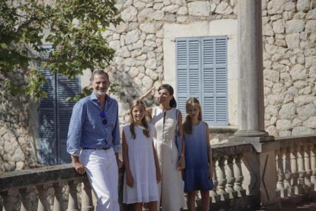 The Spanish Royal Family during a visit to Son Marroig last year.