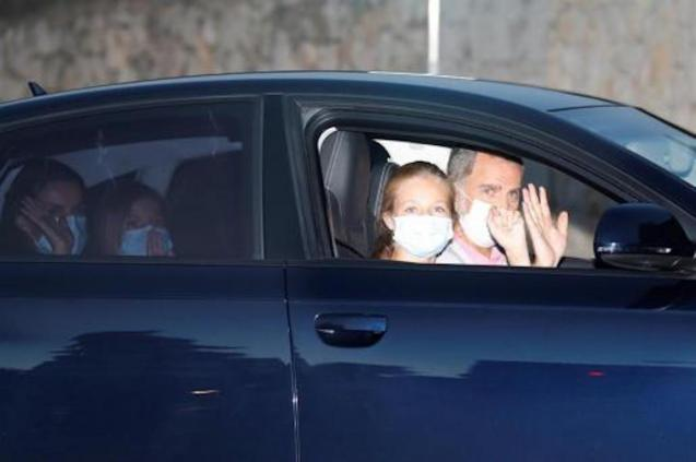 Spanish Royal Family arrive in Palma.