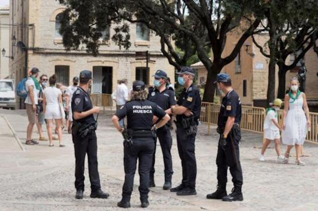 Local Police in Huesca.