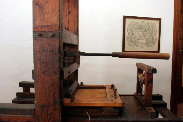 The Guasp 17th century press are at the museum in the Charterhouse, Valldemossa.