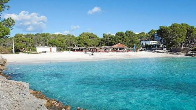 Ses Fonts beach bar in Mondragó Natural Park, Majorca.