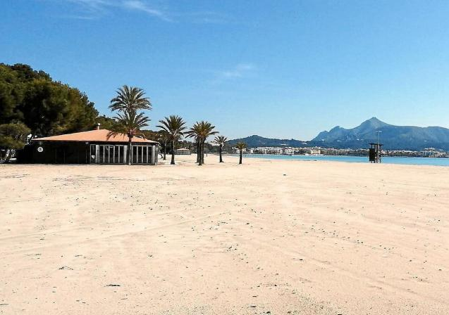 Playa d'Alcudia, Majorca.