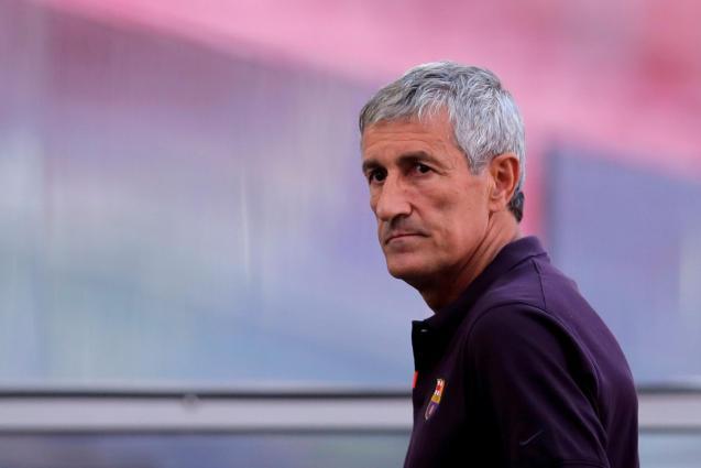 FC Barcelona coach Quique Setien