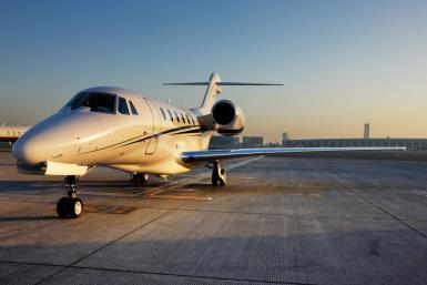 A private jet in Majorca.