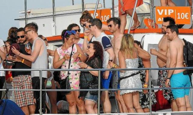 'Party boats' have been banned in the Balearics since June 2019.