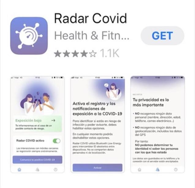 Radar Covid App.