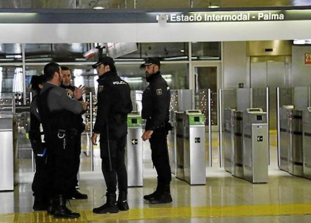 National Police & Security Staff at Palma Intermodal Station.