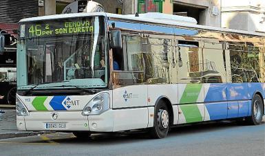 Palma public transport use has fallen by a half.