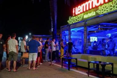 Temperatures taken at a Nightlife Venue in Marbella. archive photo.