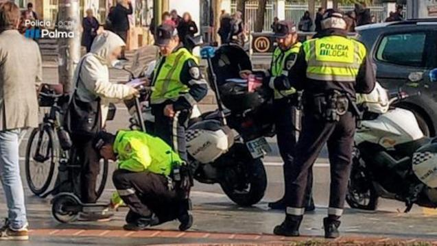 Scooter users sanctioned in Palma.