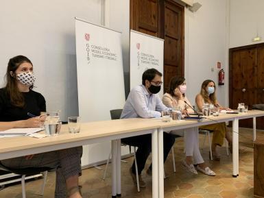 Balearic tourism minister, Iago Negueruela, at Thursday's meeting.