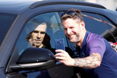 Gareth Bale arrives