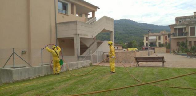 Care home Mallorca disinfection