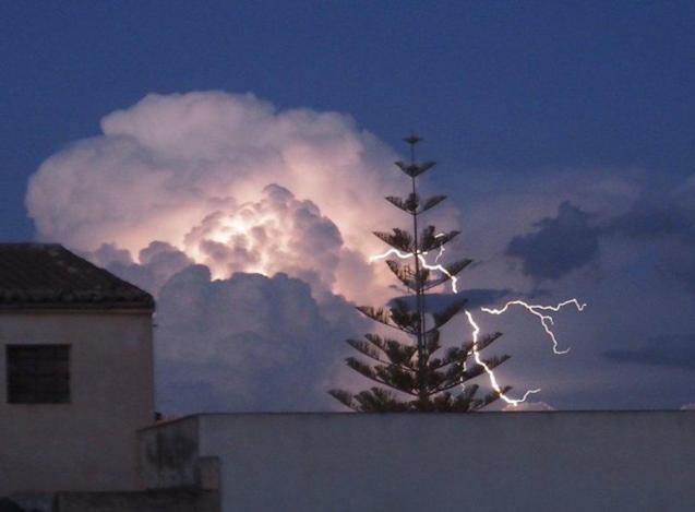 Lightning in Majorca.