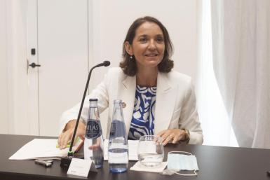 Spain's tourism minister, Reyes Maroto.