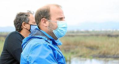 Balearic environment minister, Miquel Mir, who was at the scene on Saturday.