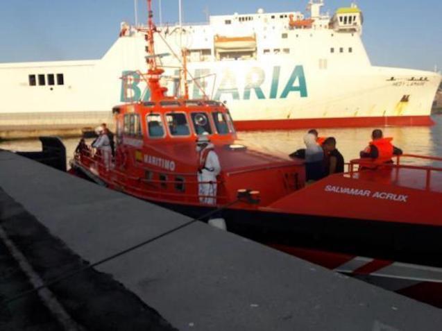 Migrants arriving in Palma.
